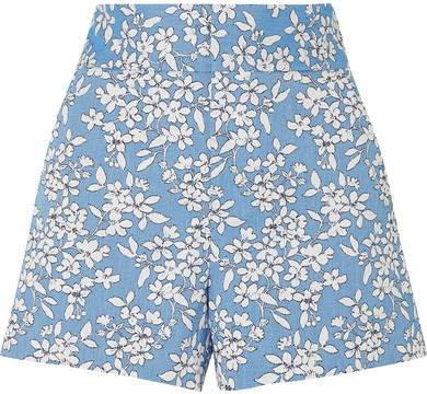 Alice Olivia - Cotton-blend Jacquard Shorts - Blue