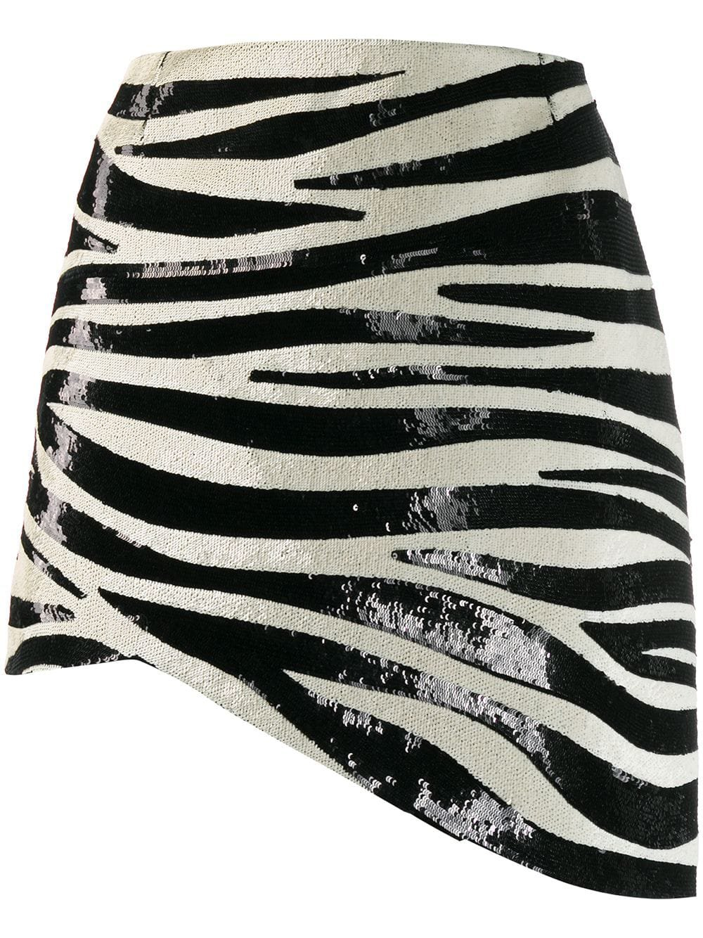 Saint Laurent Zebra Stripe Sequin Mini Skirt For Women   Farfetch.com