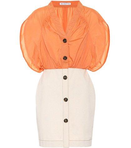 Yana cotton-blend dress