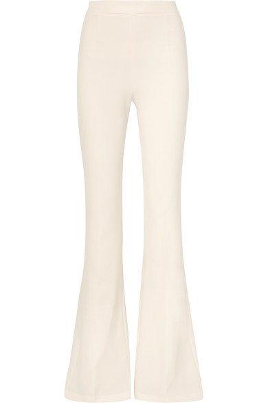 Safiyaa | Pantalon évasé en crêpe | NET-A-PORTER.COM