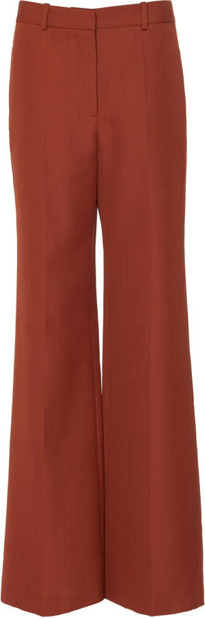 Wool-Blend Wide-Leg Trouser