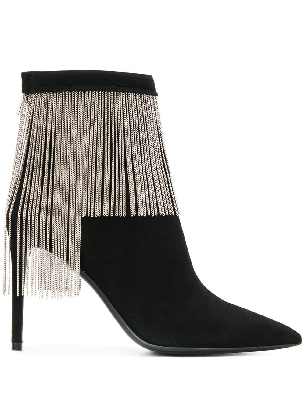 Balmain Mercy chain suede boots £1,390 - Shop Online. Same Day Delivery in London