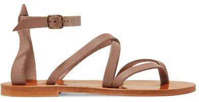 Fusain Leather Sandals - Taupe