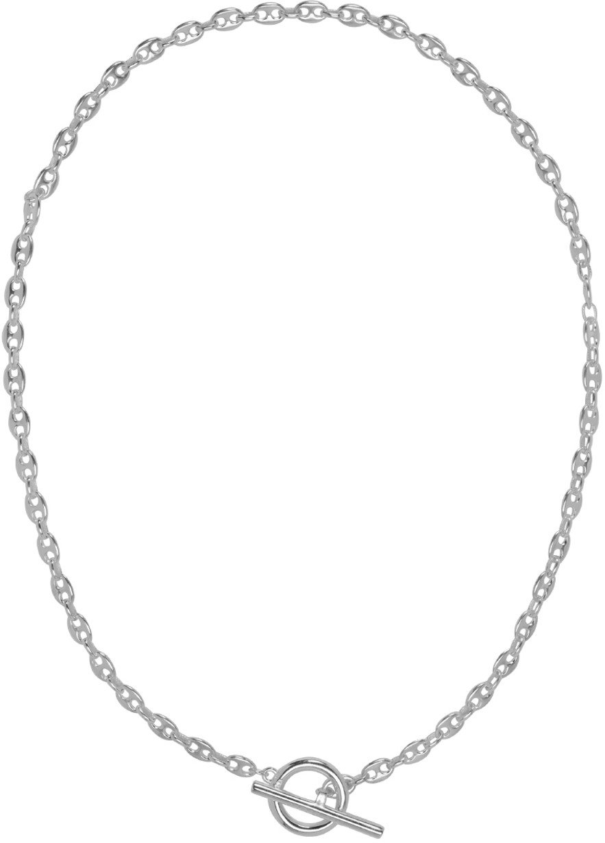 All Blues: Silver Coffee Beans Necklace | SSENSE