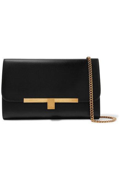 Victoria Beckham | Leather clutch | NET-A-PORTER.COM