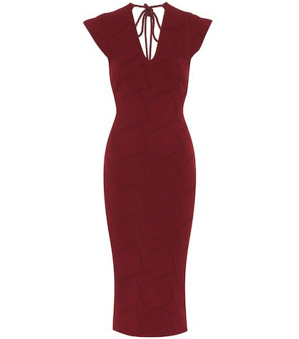 Dorada crêpe knit midi dress