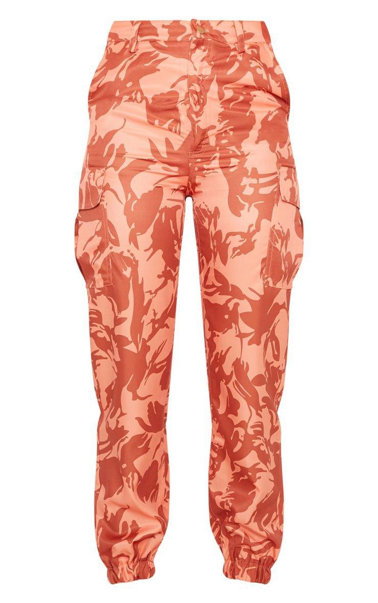 Orange Camo Pocket Detail Cargo Trouser | PrettyLittleThing