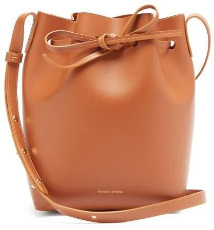 Mini Leather Bucket Bag - Womens - Tan