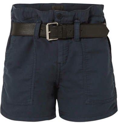 Saint Belted Cotton Shorts - Navy