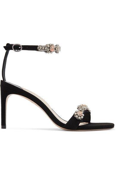 Sophia Webster | Aaliyah crystal-embellished suede sandals | NET-A-PORTER.COM