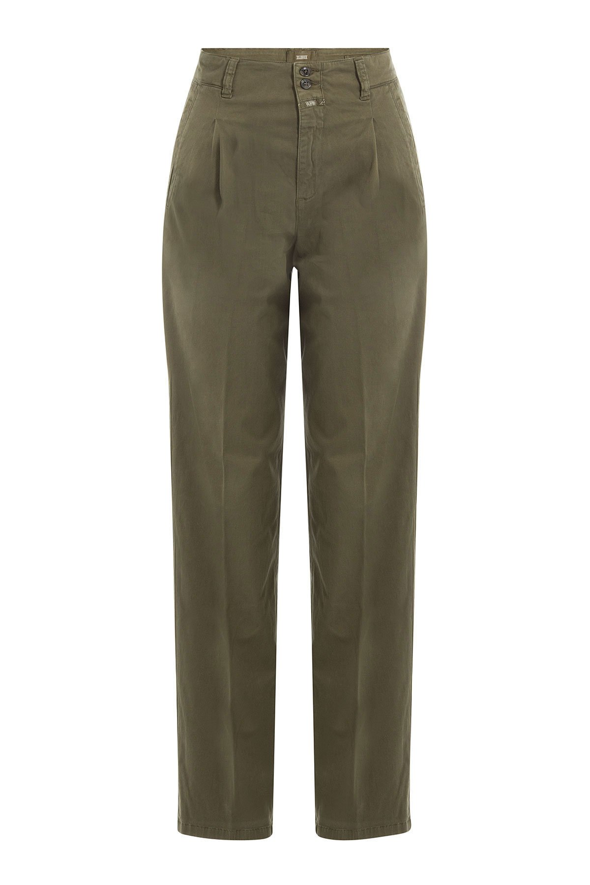 Stretch Cotton High-Waisted Chinos Gr. 30