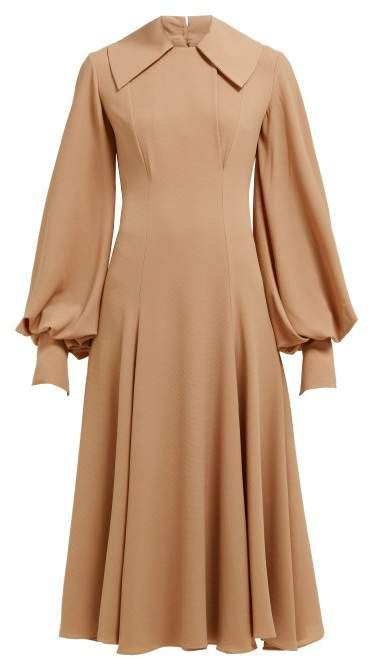 Gaynor Wave Panelled Midi Dress - Womens - Light Brown