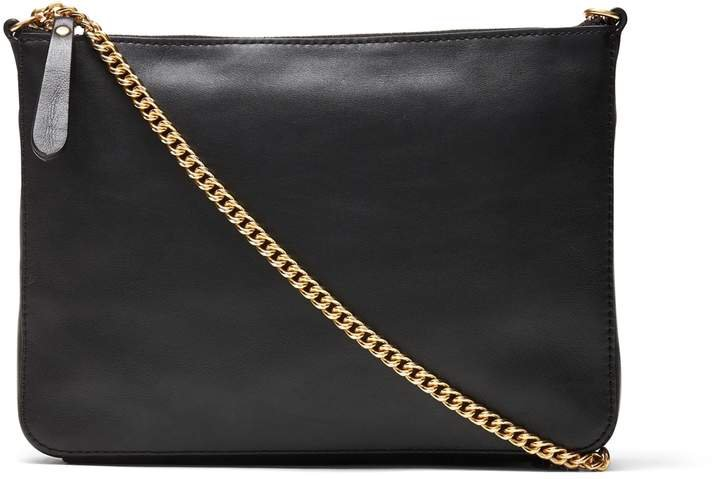 Italian Leather Chain Crossbody Bag