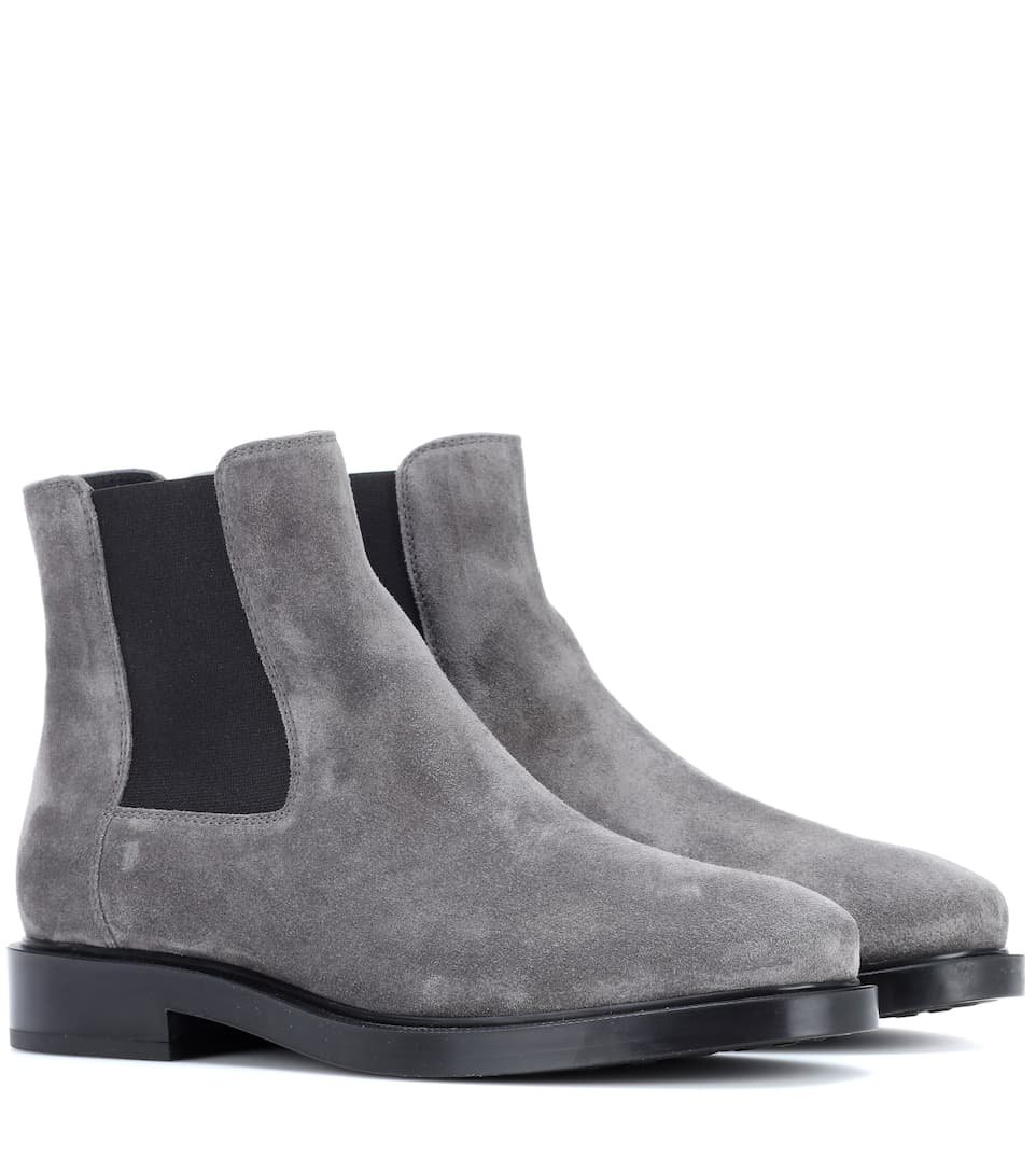 Suede Ankle Boots - Tod's | mytheresa.com