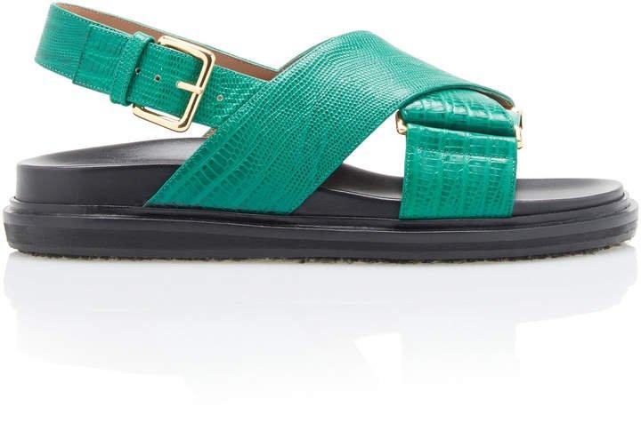Fussbett Embossed Slingback Sandals