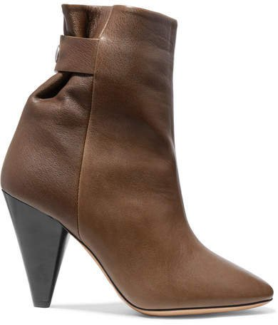 Lystal Leather Ankle Boots - Brown