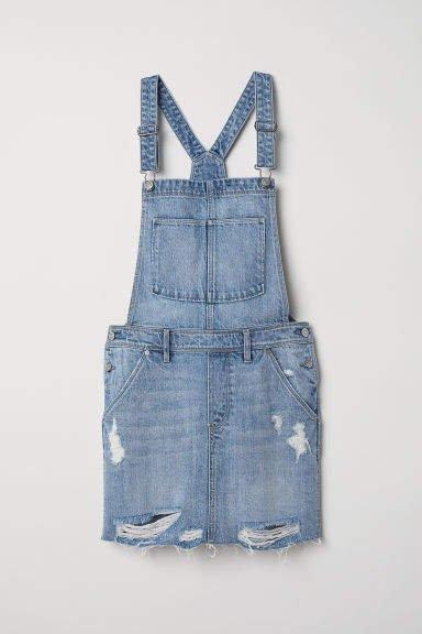 Bib Overall Dress - Blue