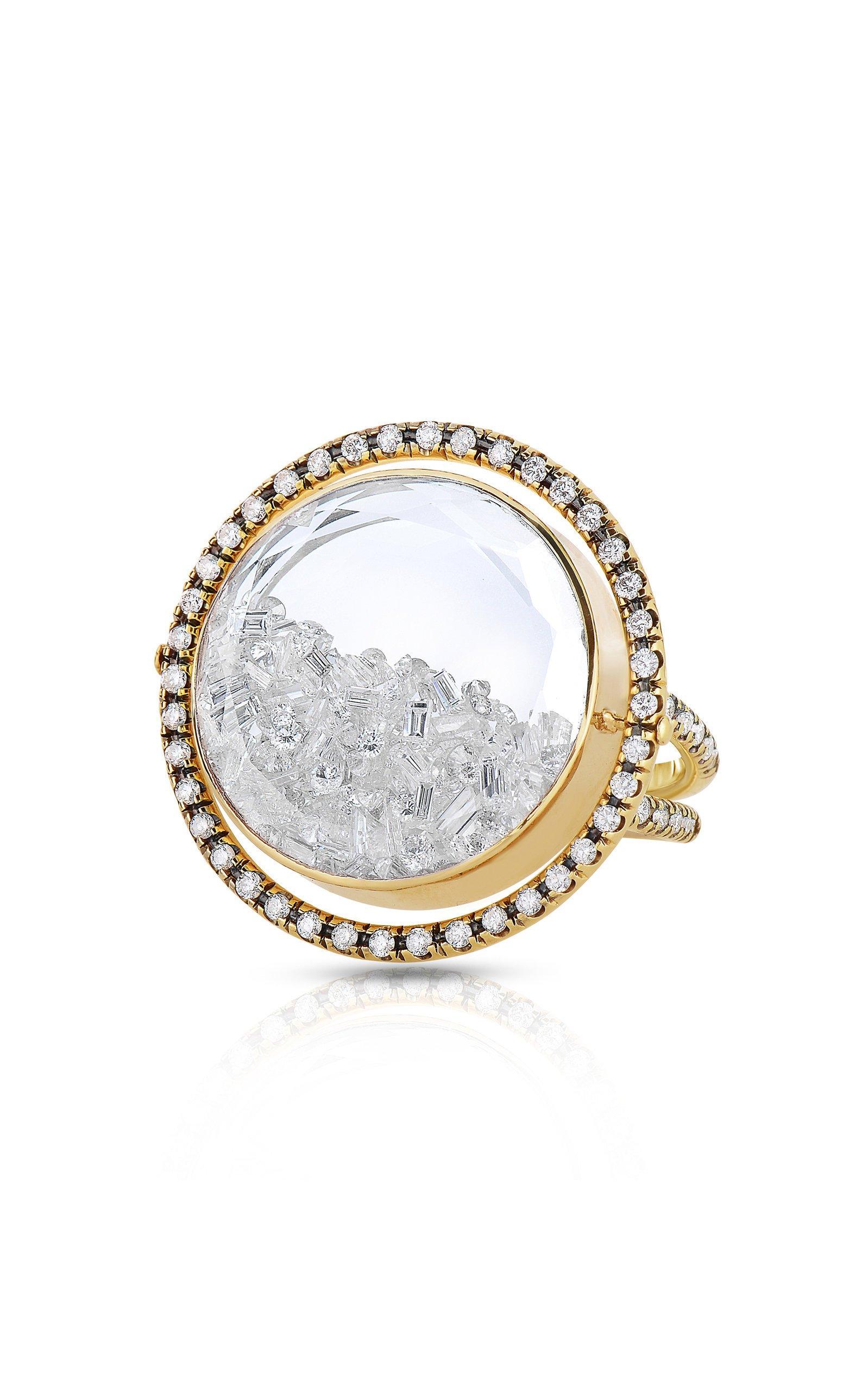 Moritz Glik Movable Diamond Kaleidoscope Shaker Ring