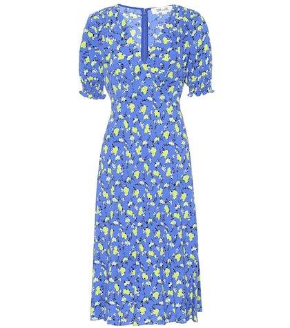 Jemma floral crêpe midi dress