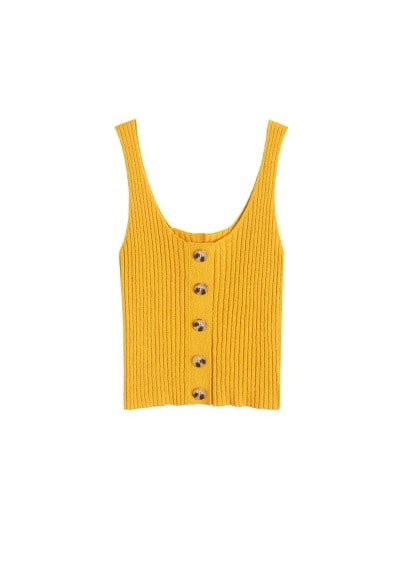 MANGO Ribbed cotton-blend top