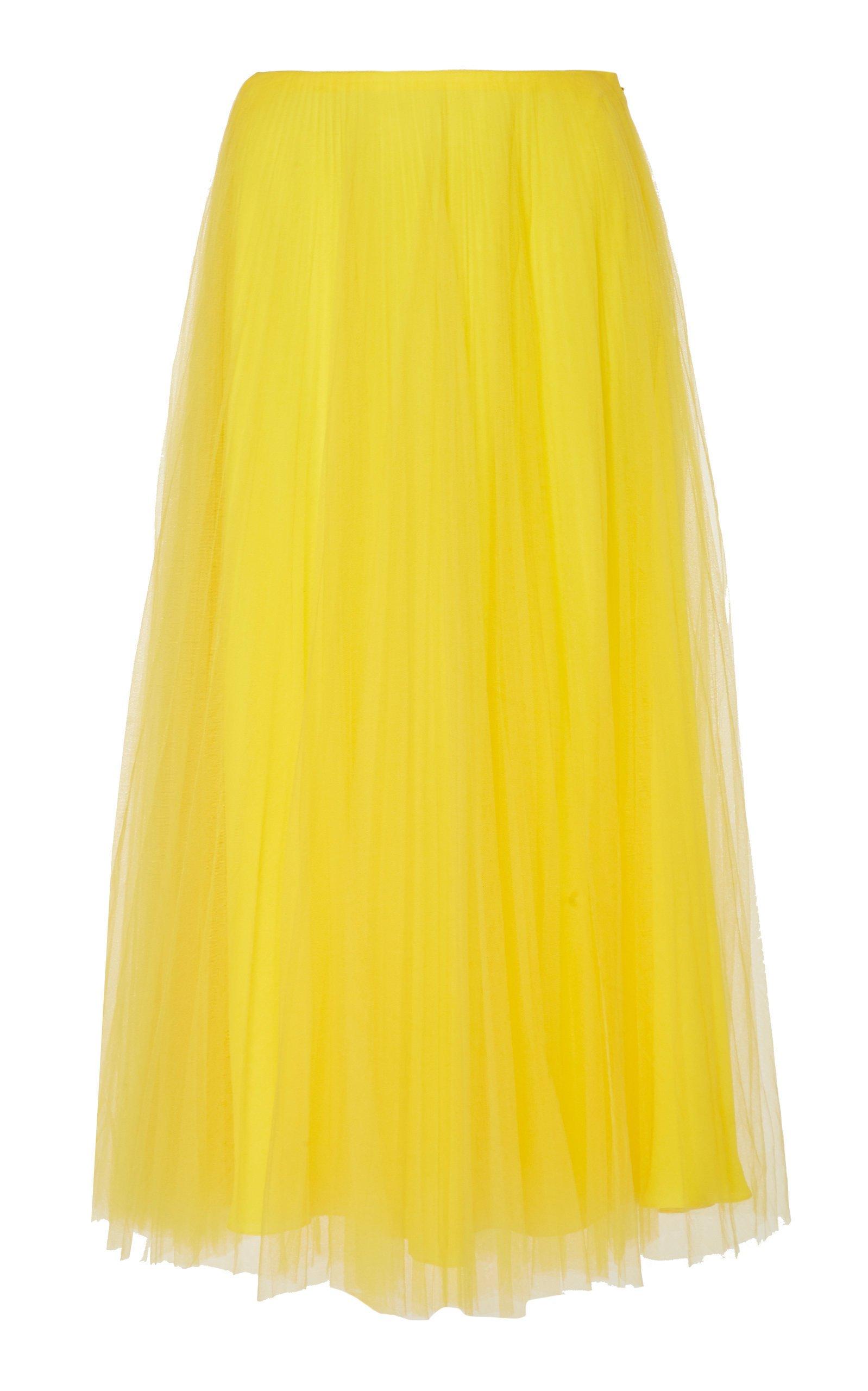 Ralph Lauren Trivelas Tulle Pleated Skirt