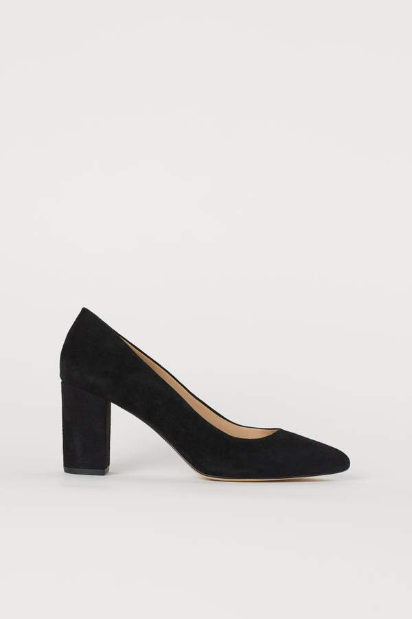Suede Pumps - Black