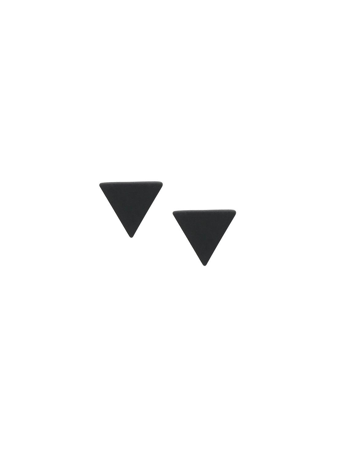 Black Minimalist Triangle Ear Studs