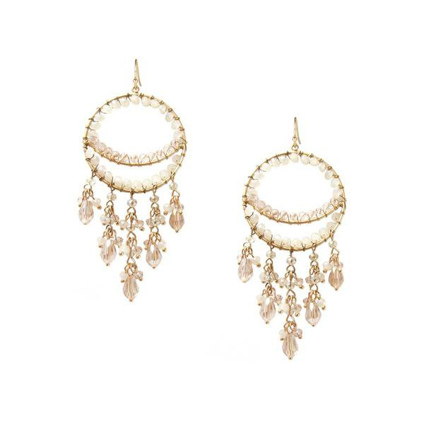 Earrings | Shop Women's Lavender Fringe Circle Earring at Fashiontage | 9932E-3