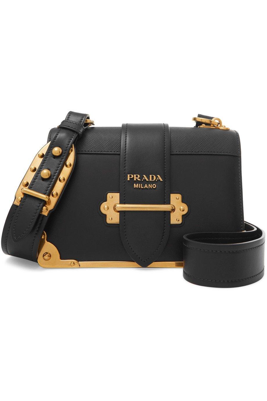 Prada | Cahier leather shoulder bag | NET-A-PORTER.COM