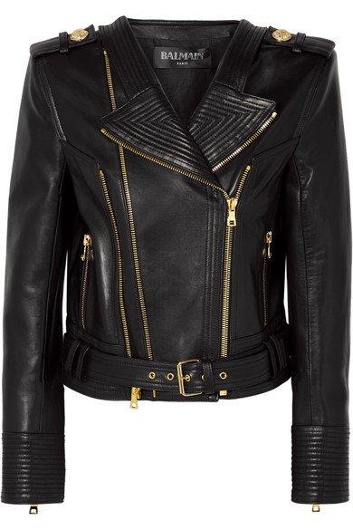 Balmain | Leather biker jacket | NET-A-PORTER.COM