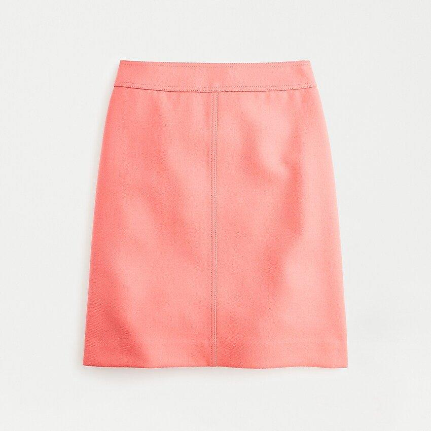 J.Crew: Princess Mini Skirt In Double-serge Wool peach