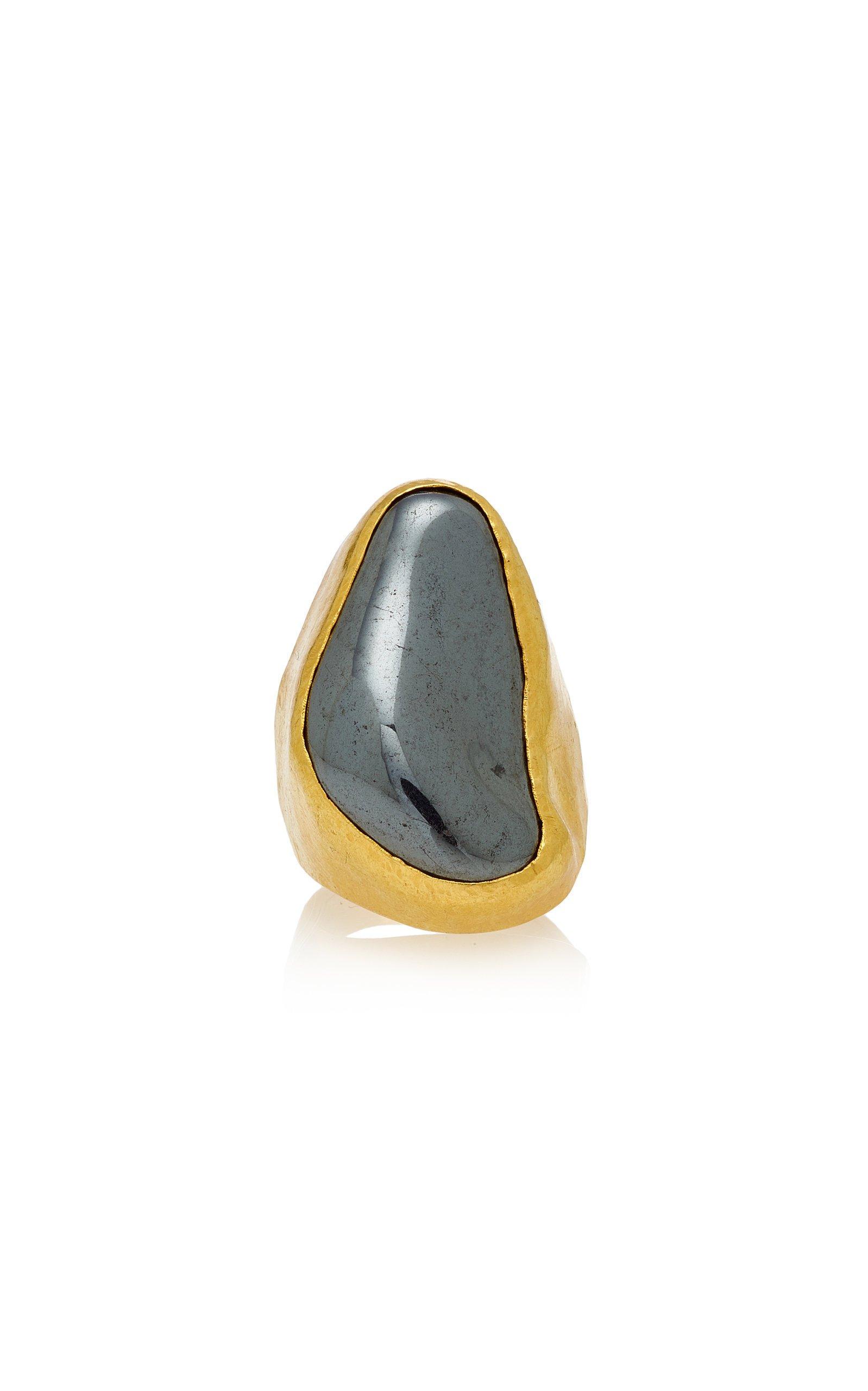 Pippa Small Tibetan Ring With Hematite