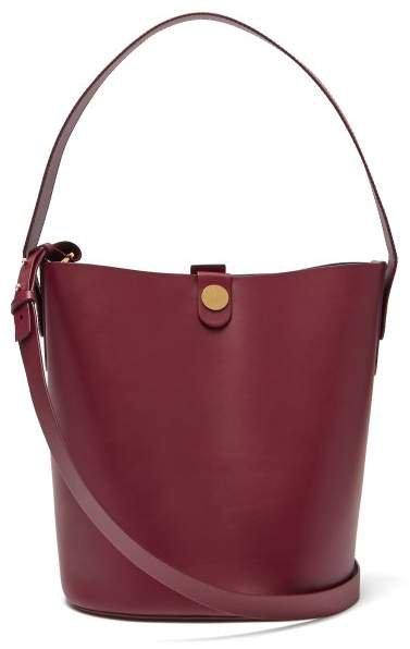 Large Swing Leather Bucket Bag - Womens - Burgundy