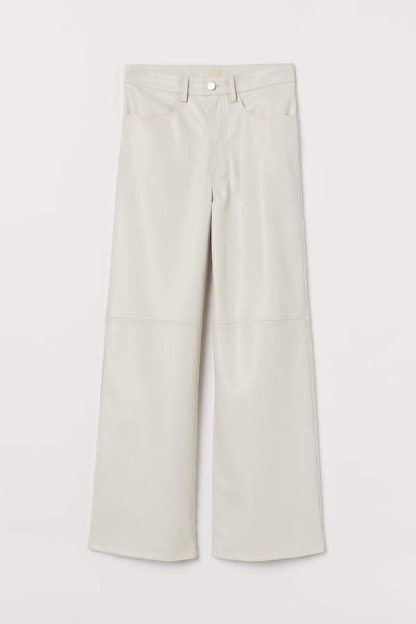 Faux Leather Pants - White