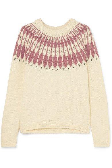 Madewell | Fair Isle cotton-blend sweater | NET-A-PORTER.COM