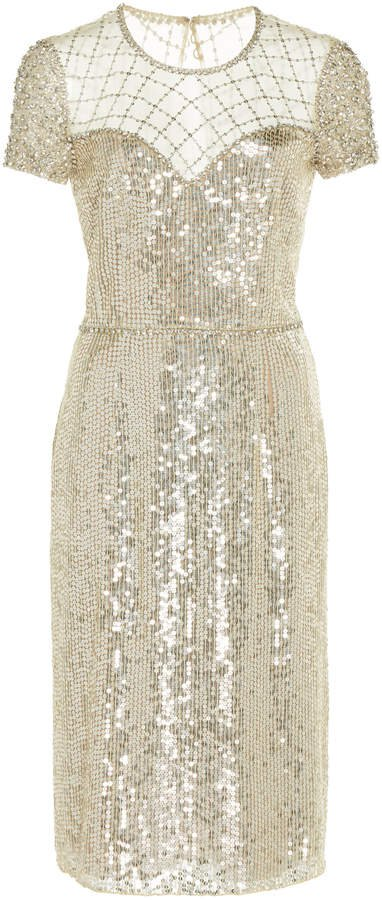 Delphine Sequined Cocktail Dress