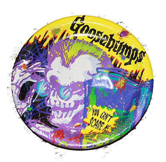 """Amazon.com: Party Express """"You Can't Scare Me"""" Goosebumps 8 3/4"""" Party Plates - 8 Pack: Toys & Games"""