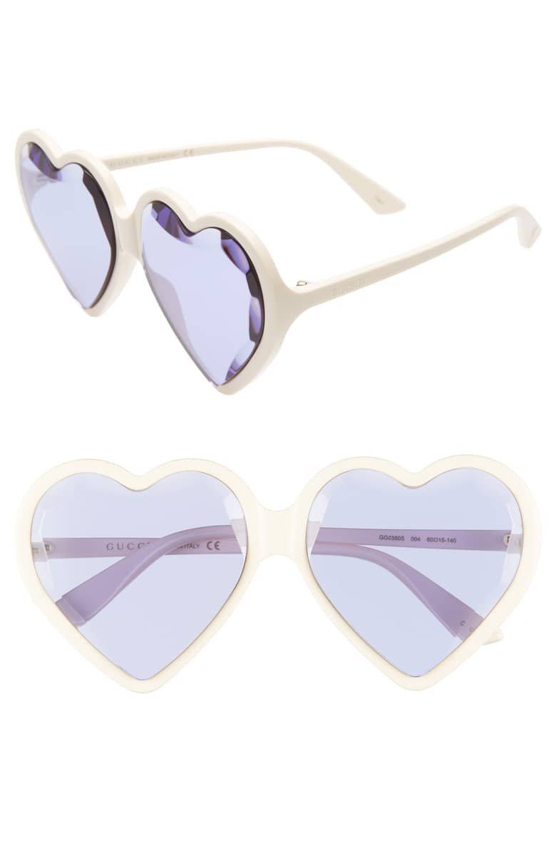 Gucci 60mm Heart Sunglasses | Nordstrom