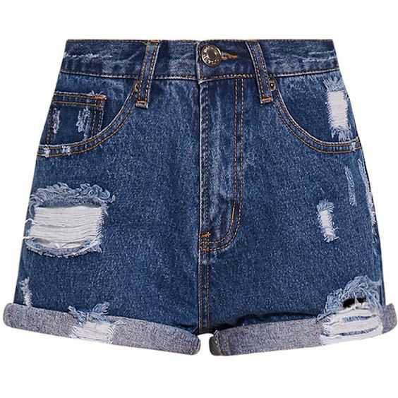 Camilla Blue High Waisted Ripped Denim Shorts ($28) ❤ liked on Polyvore featuring shorts, bottoms, ripped jean shorts, high waisted ripped shorts, destroyed jean shorts, high rise denim shorts and