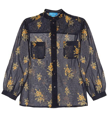 Lili floral cotton shirt