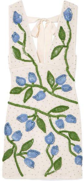 Orsay Embellished Chiffon Mini Dress - White