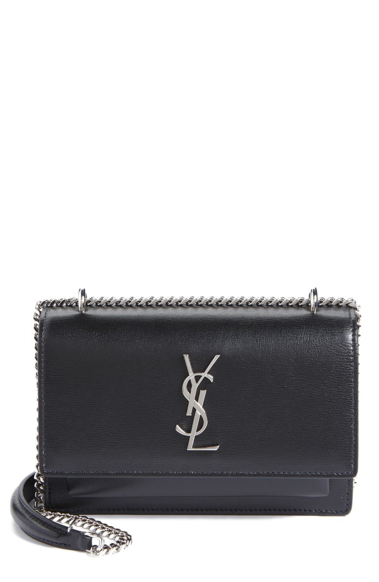 Saint Laurent Sunset Leather Wallet on a Chain | Nordstrom
