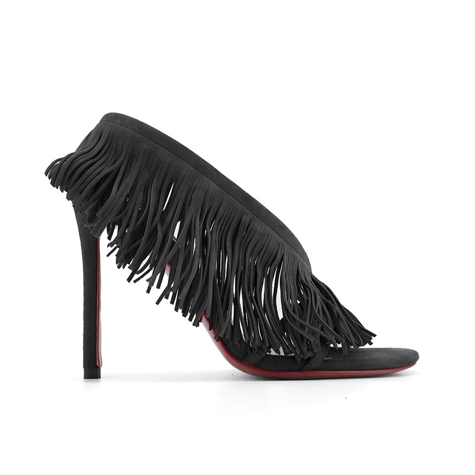 JESSICABUURMAN – ROCIA Fringed Suede High Heel Sandals