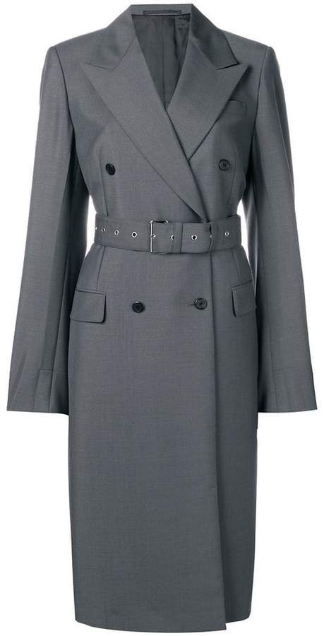 double-breasted belted coat