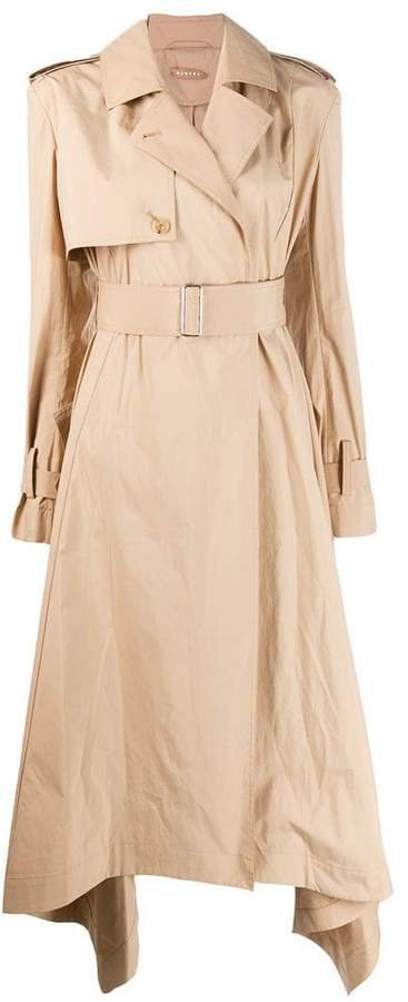 Nehera long structured trenchcoat