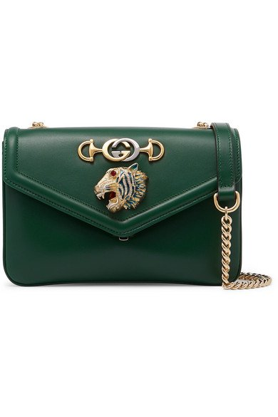 Gucci | Rajah small embellished leather shoulder bag | NET-A-PORTER.COM