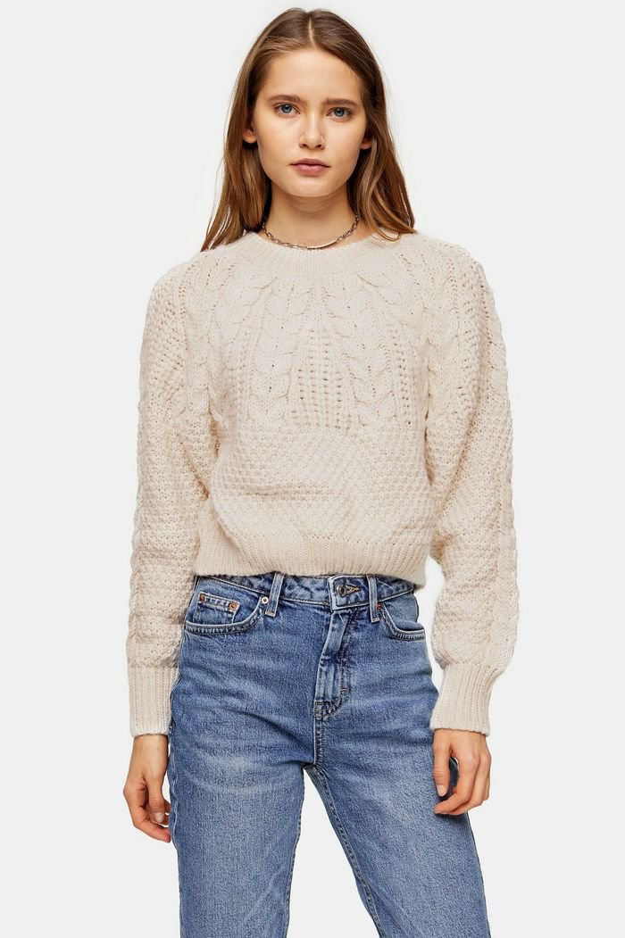 Knitted Cable Crop Jumper | Topshop