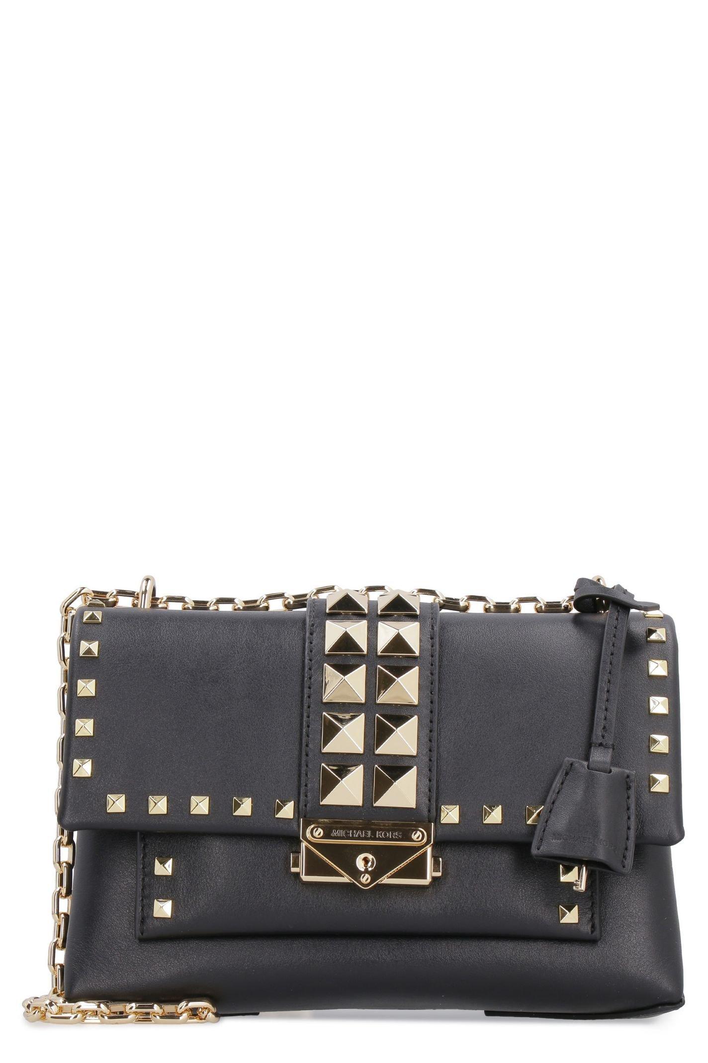 Michael Kors Cece Studded Leather Shoulder Bag