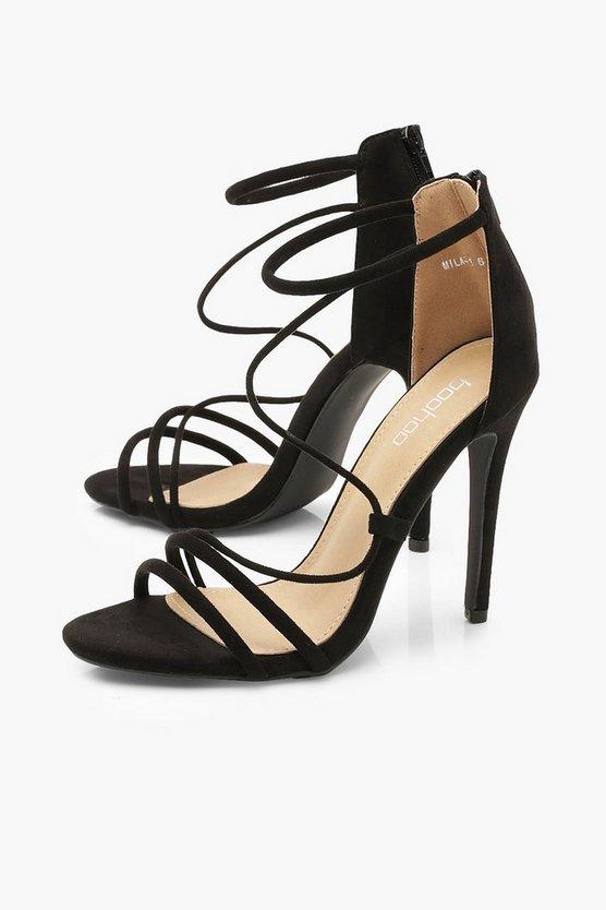 Strappy Stiletto Sandals   Boohoo