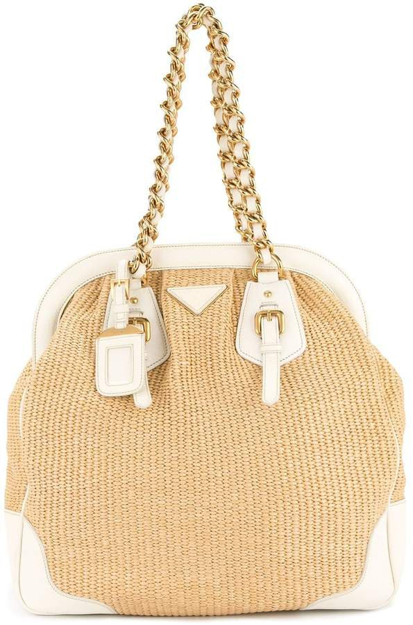 Pre-Owned chain shoulder bag